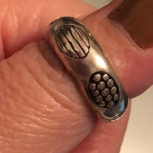 .925 Sterling silver women's retro band ring